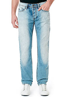 BUFFALO DAVID BITTON Evan X Bleached And Patched Jeans