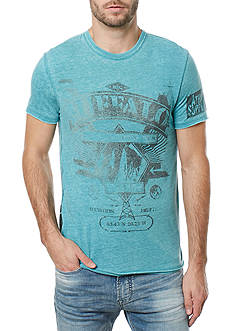BUFFALO DAVID BITTON® Short Sleeve Tighe Crew Neck Burnout Graphic Tee
