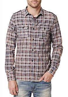 BUFFALO DAVID BITTON Long Sleeve Sitrol Woven Shirt