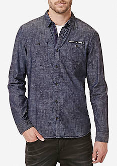 BUFFALO DAVID BITTON Long Sleeve Simpur Woven Shirt