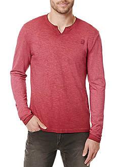BUFFALO DAVID BITTON Long Sleeve Kincold Split Neck Knit Shirt