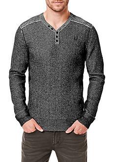 BUFFALO DAVID BITTON Long Sleeve Warenty Waffle Sweater