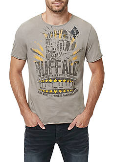BUFFALO DAVID BITTON Short Sleeve Taleans Raw Edge Graphic Tee