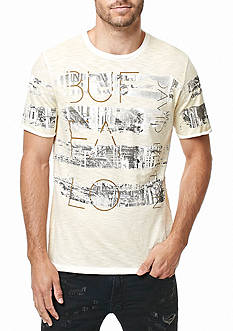 BUFFALO DAVID BITTON Short Sleeve Tispray Graphic Stripe Tee