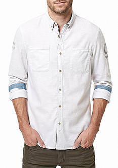 BUFFALO DAVID BITTON Long Sleeve Sihuliat Twill Button Down Shirt