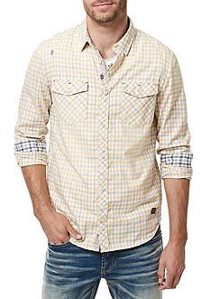 BUFFALO DAVID BITTON Long Sleeve Saconsta Check Woven Button Down Shirt