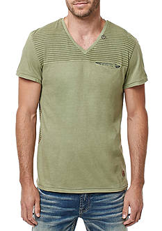 BUFFALO DAVID BITTON® Short Sleeve Kisady Stripe V-Neck Tee