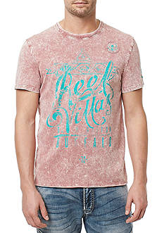 BUFFALO DAVID BITTON Short Sleeve Tijoy Washed Script Graphic Tee