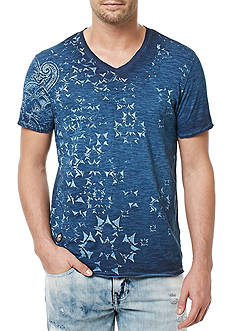 BUFFALO DAVID BITTON Short Sleeve Titree Star V Neck Graphic Tee
