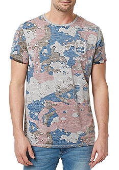BUFFALO DAVID BITTON Short Sleeve Tiway Camo Graphic Tee