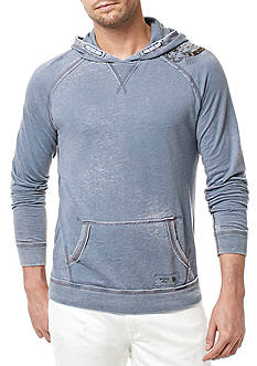 BUFFALO DAVID BITTON Long Sleeve Faboat Burnout Fleece Hoodie