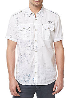 BUFFALO DAVID BITTON Short Sleeve Silaky Print Woven Shirt