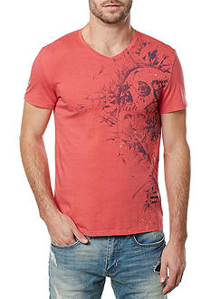 BUFFALO DAVID BITTON Short Sleeve Tavan Skull Graphic V-Neck Tee