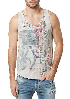 BUFFALO DAVID BITTON Sleeveless Tisky Graphic Tank