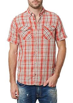 BUFFALO DAVID BITTON Short Sleeve Sivander Plaid Shirt
