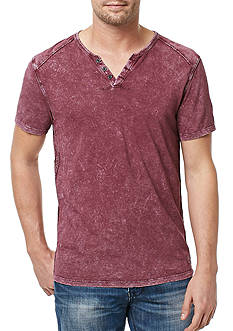 BUFFALO DAVID BITTON Short Sleeve Karwayne Split Neck Shirt