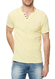 BUFFALO DAVID BITTON Short Sleeve Karwayne Split Neck Shirt