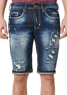 BUFFALO DAVID BITTON Parker-X Destructed Denim Shorts