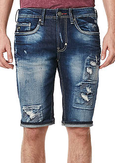 BUFFALO DAVID BITTON Parker-X Acid Wash Denim Shorts