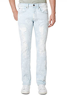 BUFFALO DAVID BITTON® Evan X Paint Splatter Slim Fit Straight Leg Jeans