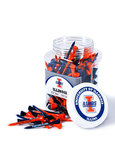 Team Golf Illinois Fighting Illini 175 Count Imprinted Tee Jar
