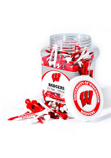 Team Golf Wisconsin Badgers 175 Count Imprinted Tee Jar