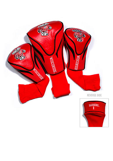 Team Golf Wisconsin Badgers 3-Pack Contour Head Covers