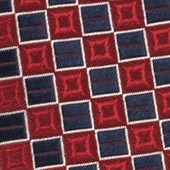Men: Izod Accessories: Red IZOD Micro Square Woven Tie