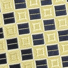 Men: Izod Accessories: Yellow IZOD Micro Square Woven Tie