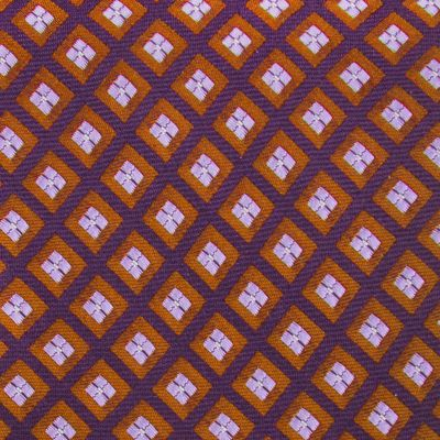 Men: Izod Accessories: Orange IZOD Micro Square Woven Tie