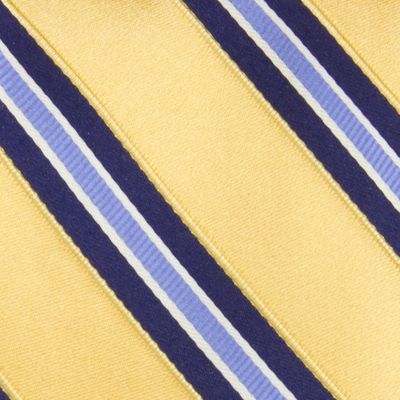 Men: Izod Accessories: Yellow IZOD Core Stripe Tie