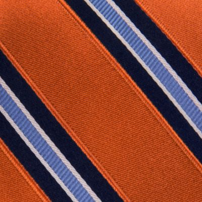 Men: Izod Accessories: Orange IZOD Core Stripe Tie