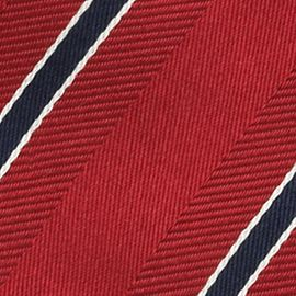 Men: Izod Accessories: Red IZOD Stripe Tie