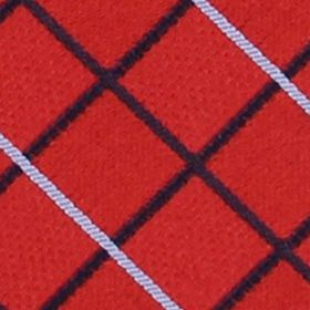 Men: Izod Accessories: Red IZOD Grid Pattern Tie