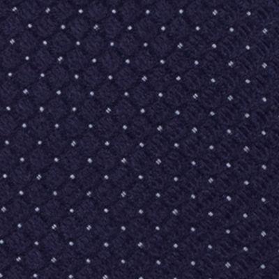 Black Tie: Navy Calvin Klein Steel Micro Solid A Tie