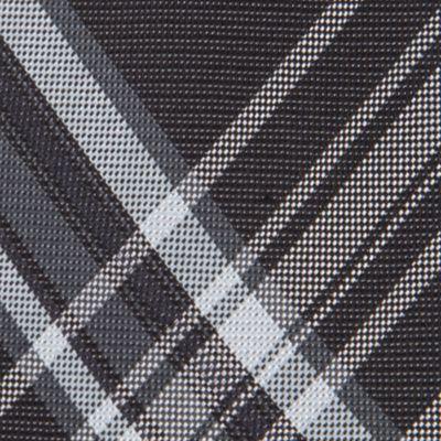 Black Tie: Black Calvin Klein University Plaid Tie