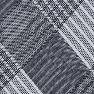 Men: Dress Shirts Sale: Silver Calvin Klein Schoolboy Maxi Windowpane Tie