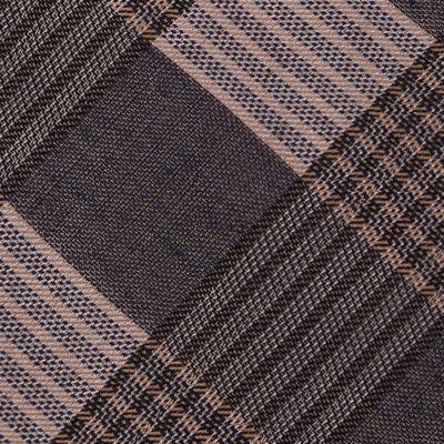 Interview Tie: Taupe Calvin Klein Schoolboy Maxi Windowpane Tie