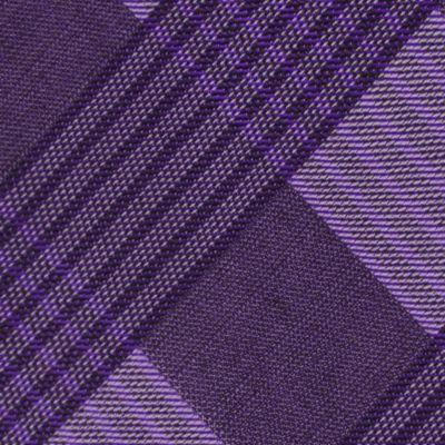 Interview Tie: Purple Calvin Klein Schoolboy Maxi Windowpane Tie