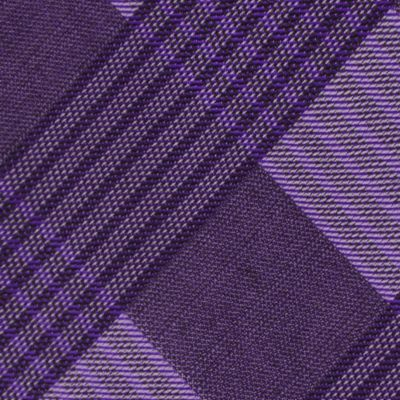 Modern Man: Dress Shirts: Purple Calvin Klein Schoolboy Maxi Windowpane Tie