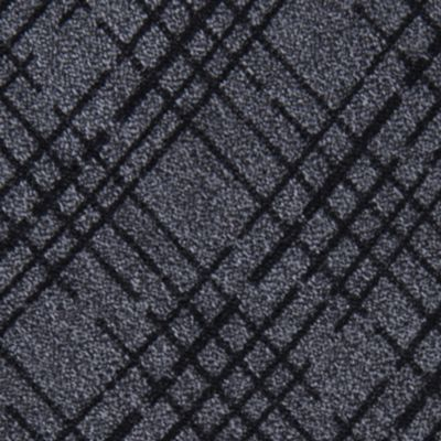 Black Tie: Black Calvin Klein Broken Plaid Tie