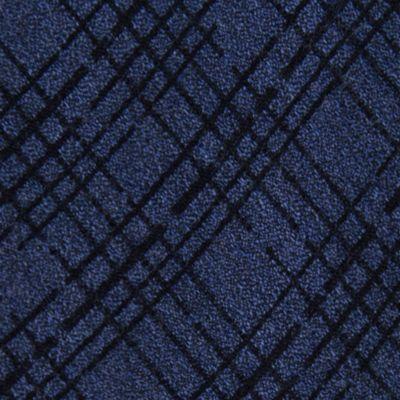 Black Tie: Navy Calvin Klein Broken Plaid Tie