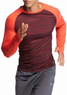 SB Tech Long Sleeve Thin Wavy Crew Neck Shirt