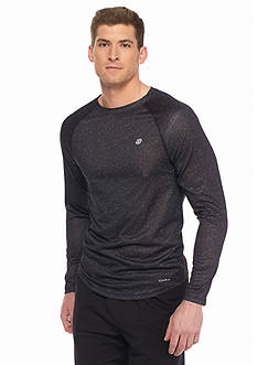 SB Tech Long Sleeve Mesh Print Crew Neck Shirt
