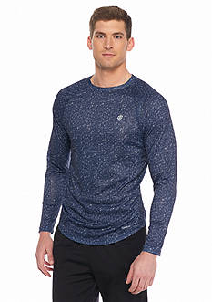 SB Tech Long Sleeve Mesh Print Crew Neck Shirt