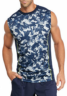 SB Tech Blob Print Basketball Muscle Tee