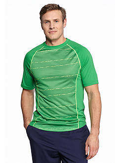 SB Tech® Big & Tall Short Sleeve Wavy Print Crew Neckline Tee