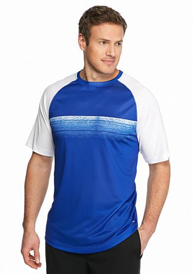 Sb tech big tall printed chest panel mesh shirt for Big and tall printed t shirts