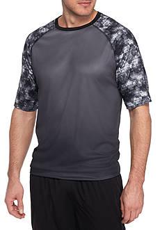 SB Tech Big & Tall Short Sleeve Ombre Crew Neck Tee Shirt