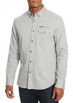 Kenneth Cole Slim-Fit Single Pocket Check Shirt